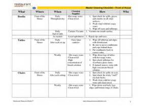kitchen cleaning schedule template cleaning schedule