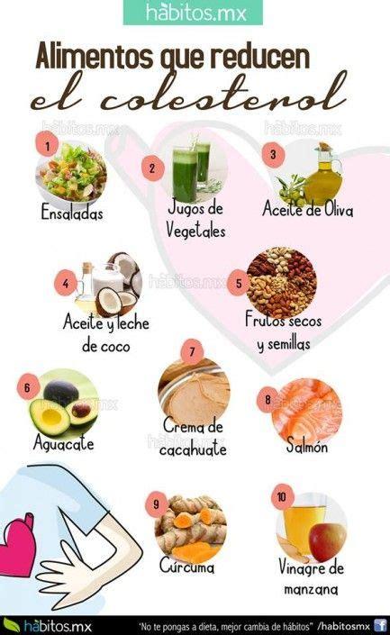 alimentos  reducen el colesterol malo health coach pinterest colesterol alimentos