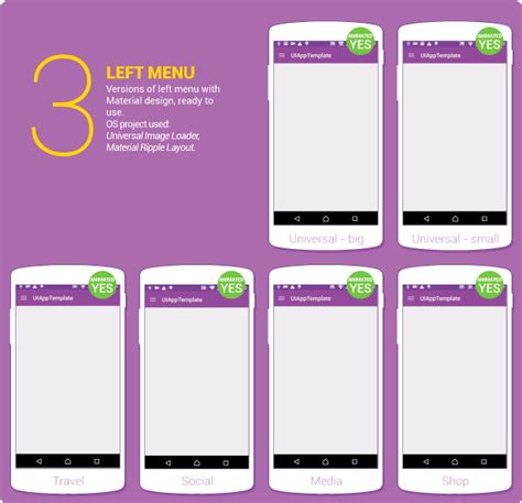 layout used in android design material design ui android template app by creativeform