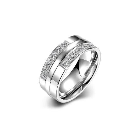 simple titanium s ring silver evermarker
