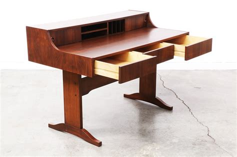 modern walnut desk mid century modern walnut writing desk vintage supply store