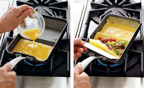 Kitchen Rolled Omelet Pan Easy Egg Cookware Nordic Ware Rolled Omelette Pan