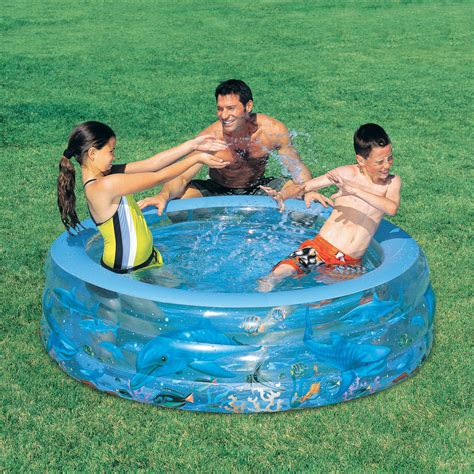 New Kolam Renang Anak Fantastic Aquarium Play Pool Bestway 58461 children s deluxe dolphin sea swim water paddling pool ebay