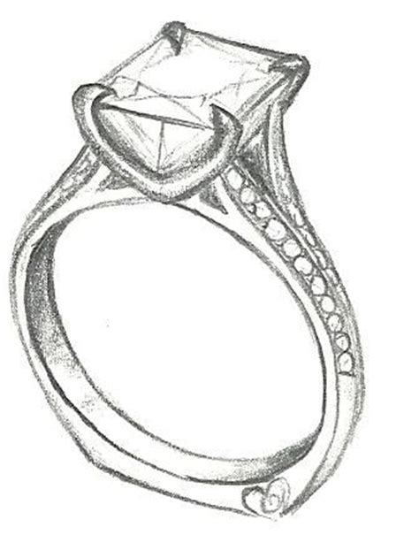 how to draw wedding rings ring drawing clipart best
