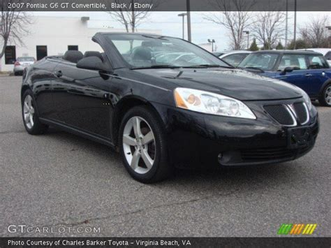 pontiac g6 black black 2007 pontiac g6 gt convertible interior