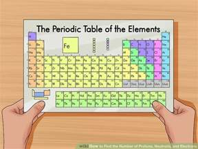 Periodic Table With Protons And Electrons How To Find The Number Of Protons Neutrons And Electrons
