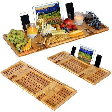 tablet halter badewanne bambus badewanne caddy tablett mit reading rack tablet