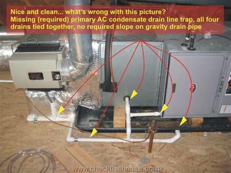 air conditioner condensate drain trap central air water central air conditioner pan