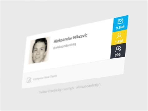 twitter profile template psd file free download
