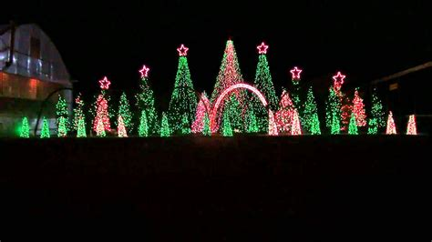 music box dancer synchronized christmas light show to