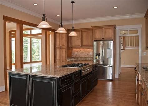 reico kitchen cabinets dark cabinets for island is nice contrast to lighter