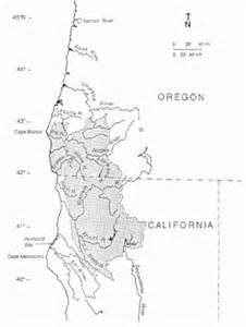 klamath oregon map klamath mountains