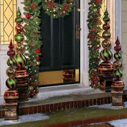 outdoor christmas topiary ideas ornament finial topiaries