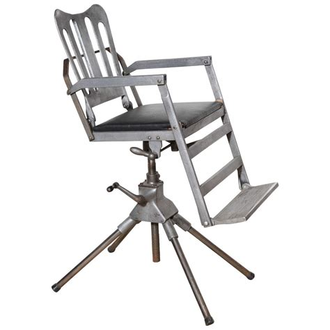 medical chairs that recline 1920 s iron cast aluminum and leather recline and fold