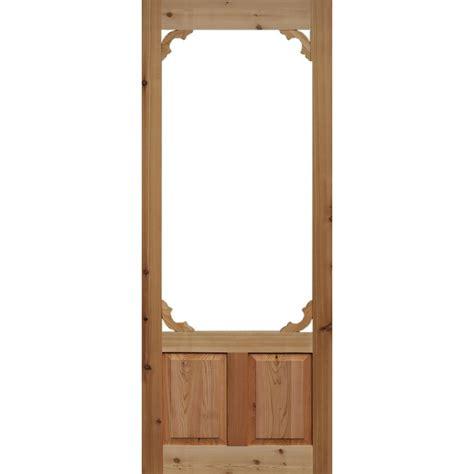 24 Wood Screen Door by Bay 36 In X 80 In Woodland Cedar Screen Door
