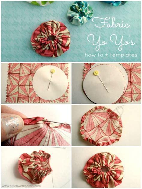 Printable Fabric Tutorial | how to make a fabric yo yo