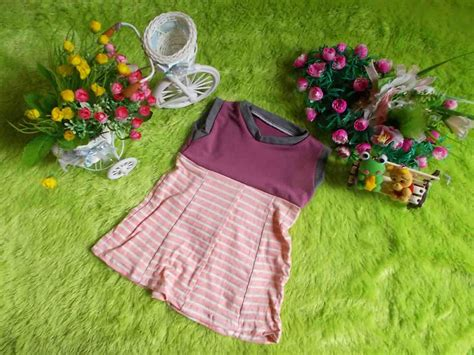 Zania Dress paling murah dress bayi mungil zania salur baju