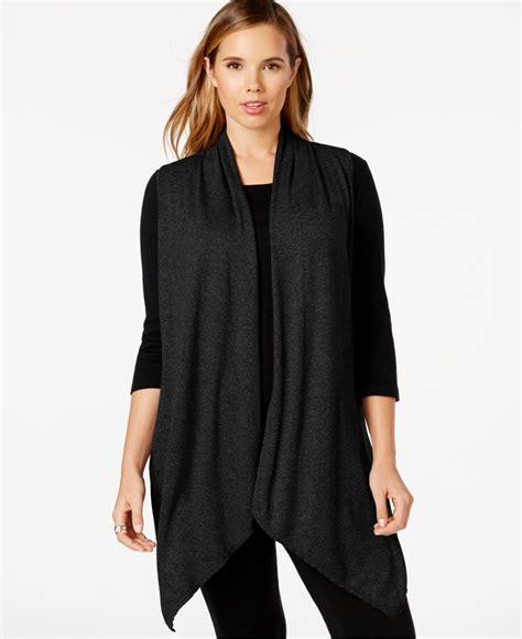 plus size draped cardigan calvin klein performance plus size draped cardigan vest in