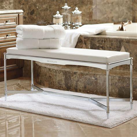 Vanity Benches For Bathroom Belmont Vanity Bench Traditional Shower Benches Seats