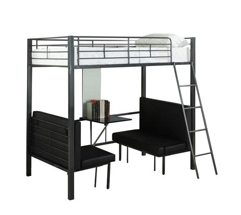 Grey Metal Bunk Beds Monarch Specialties Bunk Bed Size Charcoal Grey Metal