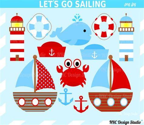 boat themed clipart sale let s go sailing clip art summer nautical clip