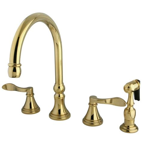 kingston brass 2 handle standard kitchen faucet