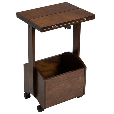 rolling folding side table by oakridge accents kimball