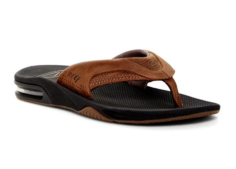 reef fanning flip flops reef leather fanning flip flops footwear the board