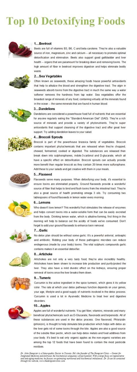Best Foods For Detoxing The by Top 10 Detoxifying Foods Positivemed