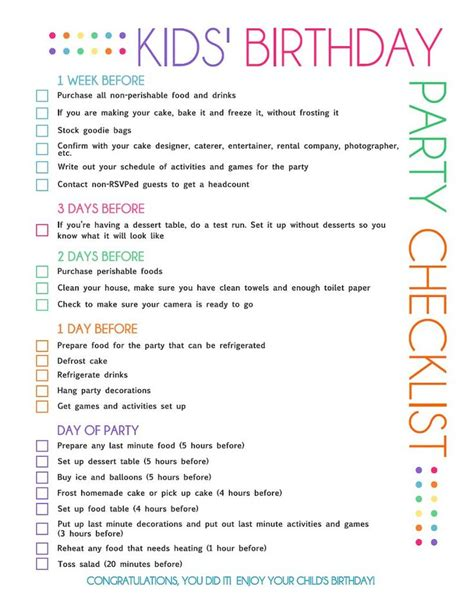 free printable party planning checklist it s the little free printable kids party planning checklist party