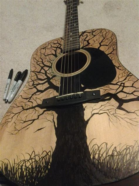 guitar pattern tumblr acoustic guitar art design www imgkid com the image