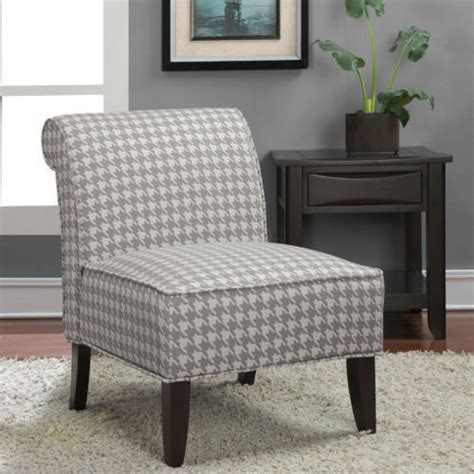 Houndstooth Accent Chair by Modern Classic Houndstooth Fabric In Gray Grey Accent