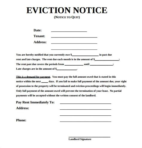 eviction notice template free eviction notice template peerpex