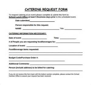 catering order form template word sle catering 5 exles format