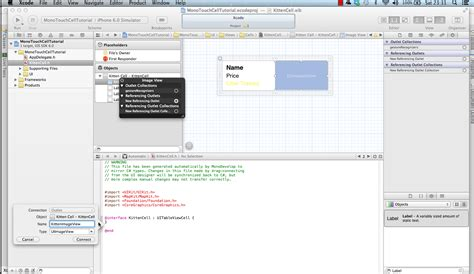 xcode layout subviews forwards uitableviewcell using the xib editor and monotouch
