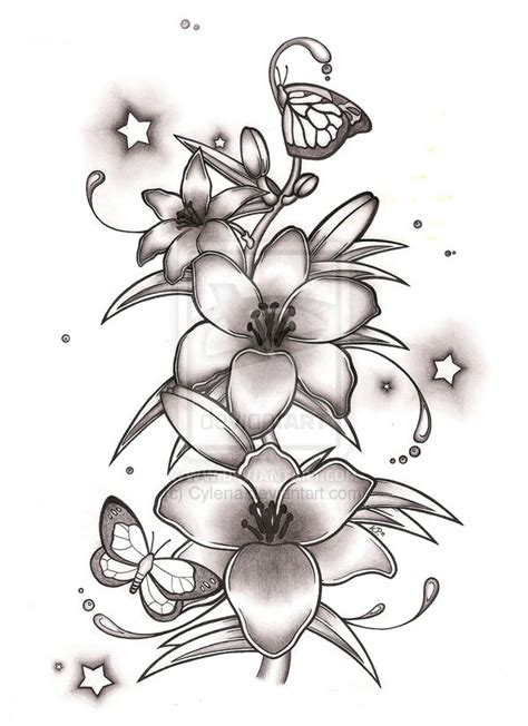 butterfly lily tattoo designs 26 tattoos designs