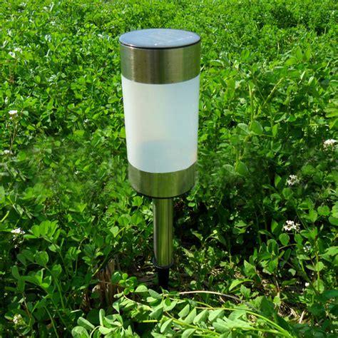 solar power gun barrel led garden light outdoor lawn