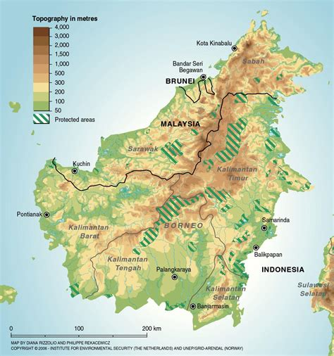Borneo Indonesia borneo protected areas map borneo indonesia mappery