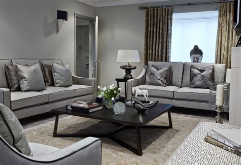 Living Room With Gray Sofa 24 Gray Sofa Living Room Furniture Designs Ideas Plans