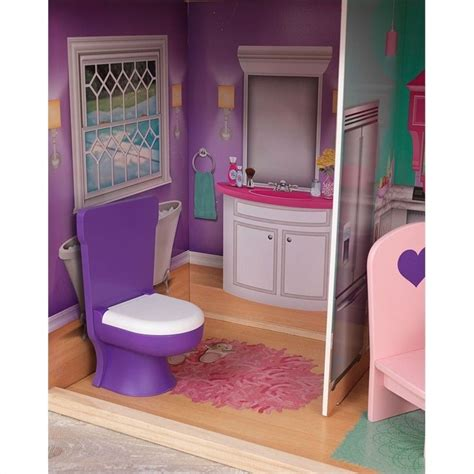 kidkraft 18 inch doll house kidkraft elegant 18 quot manor w furniture doll house ebay