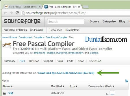 tutorial online compiler situs free pascal download compiler free pascal dari