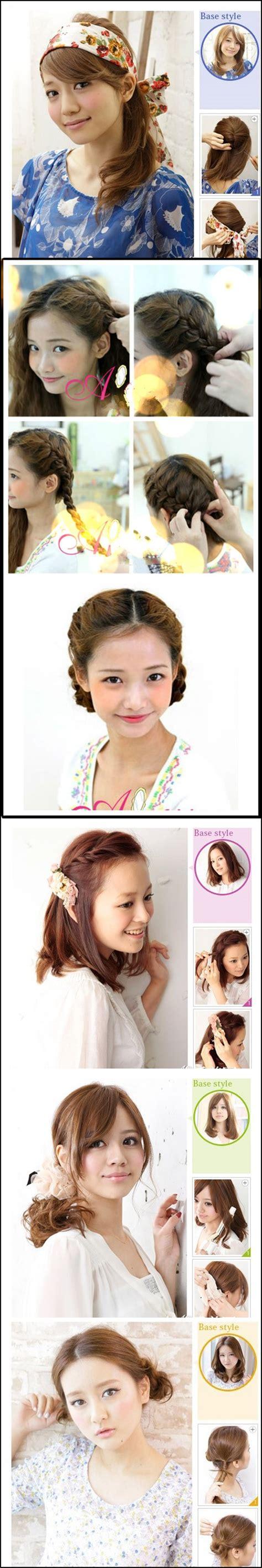 diy korean hairstyles wonderful diy 5 korea hairstyles