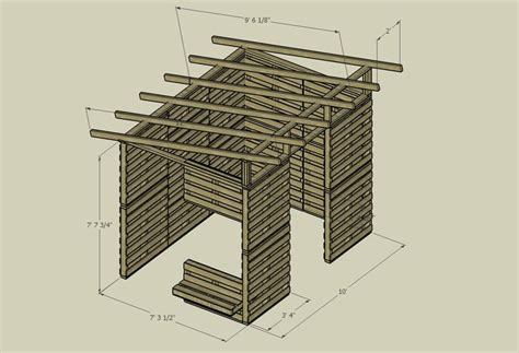Pallet Shed Blueprints by Pallet Shed Plans Outside