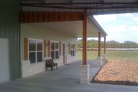 House Plans With Carport by Barndominium Reaves Building Systems