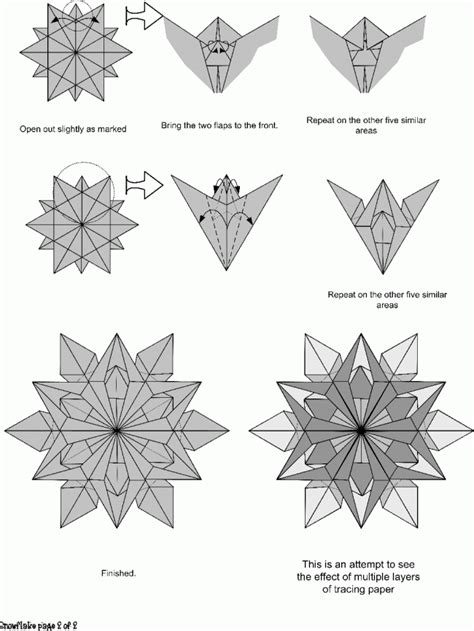 Simple Origami Snowflake - snow flakes origami paper origami guide