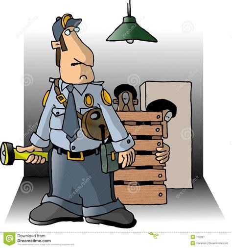 Burglars Night Watchman Stock Image Image 160991