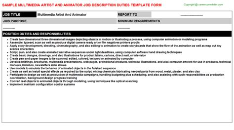 Animation Description by Multimedia Artist And Animator Title Docs