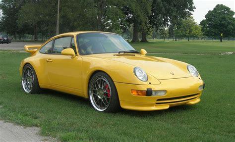yellow porsche 911 sold 1996 porsche 911 speed yellow 2 coupe 993