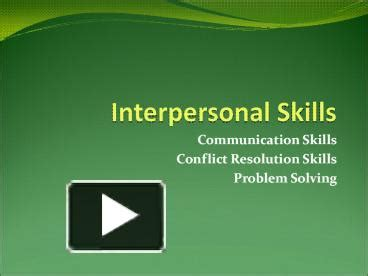 ppt interpersonal skills powerpoint presentation free
