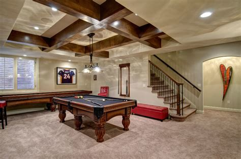 basement tables basement stairs pool table traditional basement denver by finished basement company
